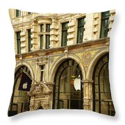 Apple On Regent Street Throw Pillow by Connie Handscomb