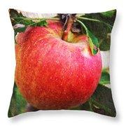 Apple On The Tree Throw Pillow