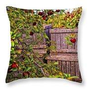 Apple Orchard Harvest Throw Pillow