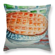 Apple Pie With Lattice Crust Throw Pillow