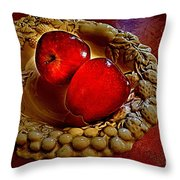 Apple Still Life 2 Throw Pillow