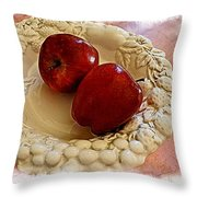 Apple Still Life 3 Throw Pillow