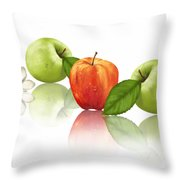 Apple Story Throw Pillow
