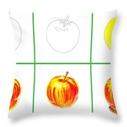 Apple Study Throw Pillow