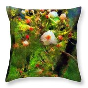 Apple Tree In April Throw Pillow