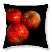Apple Trio Throw Pillow