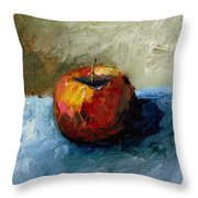 Apple With Olive And Grey Throw Pillow