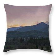 Applegate Valley Se Winter Evening Throw Pillow