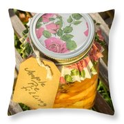 Applepie Filling Canned Throw Pillow