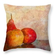 Apples And A Pear Throw Pillow