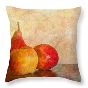 Apples And A Pear II Throw Pillow
