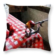 Apples And Apple Peeler Throw Pillow