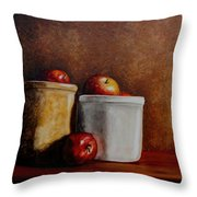Apples And Jars Throw Pillow
