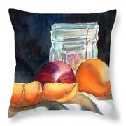 Apples And Oranges Throw Pillow by Mohamed Hirji
