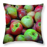 Apples Apples And More Apples Throw Pillow