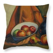Apples Apples Throw Pillow