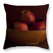 Apples In Bowl Still Life Throw Pillow