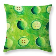 Apples In Halves Throw Pillow