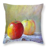 Apples On A Table Throw Pillow