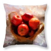 Apples On The Table Throw Pillow