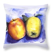 Apples Paired Throw Pillow