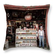 Apples. The Natural Temptation - Farmer And Old Farm Signs Throw Pillow