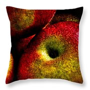 Apples Two Throw Pillow