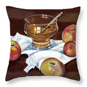 Apples With Honey Throw Pillow