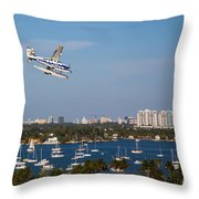 Approach And Landing In Paradise  Throw Pillow