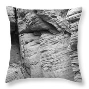 Approach To Tent Rocks Throw Pillow