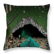 Approach To The Kobold Caves Throw Pillow