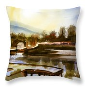Approaching Dusk IIb Throw Pillow by Kip DeVore