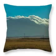 Grassland Approaching Humphreys Peak Throw Pillow