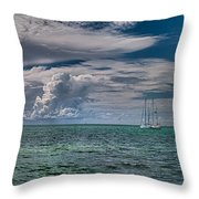 Approaching Storm At Whale Harbor Throw Pillow