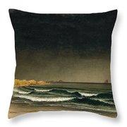 Approaching Storm. Beach Near Newport Throw Pillow
