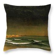 Approaching Storm Near Newport Beach Throw Pillow by Martin Heade