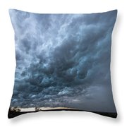 Approaching Storm Over Belton-sunset Throw Pillow