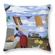 Approaching The Finish Line Throw Pillow