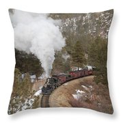Approaching The Highline Throw Pillow