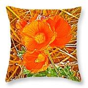 Apricot Globemallow In Vermilion Cliffs National Monument-arizona Throw Pillow