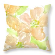 Apricot Quince Throw Pillow