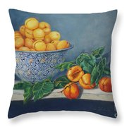 Apricots And Peaches Throw Pillow