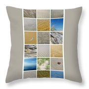 April Beach Throw Pillow by Michelle Calkins