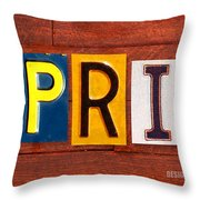 April License Plate Name Sign Fun Kid Room Decor Throw Pillow