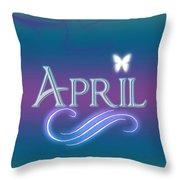 April Name Art Throw Pillow