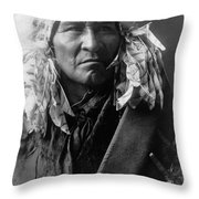 Apsaroke Indian Man Circa 1908 Throw Pillow
