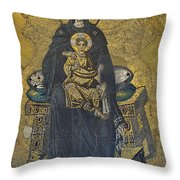 Apse Mosaic Hagia Sophia Virgin And Child Throw Pillow by Ayhan Altun