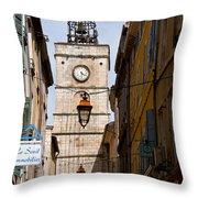 Apt Bell Tower Throw Pillow