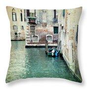 Aqua - Venice Throw Pillow