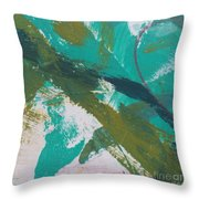 Aqua And Green Throw Pillow